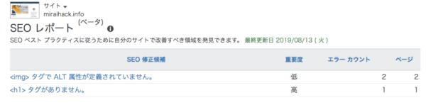 BingウェブマスターツールのSEOレポート