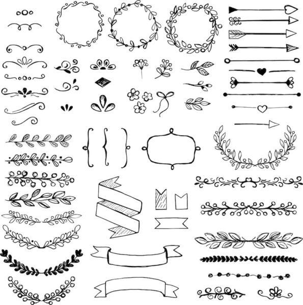 たくさんの装飾イメージ