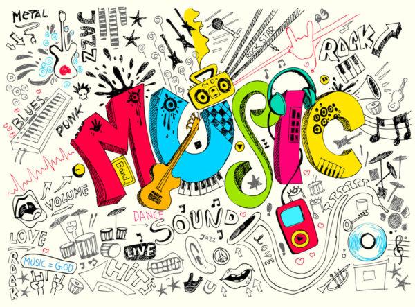 音楽ブログのイメージイラスト